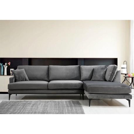 Canapé d'angle SAILOR - Gris Anthracite