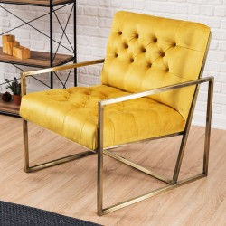 Fauteuil LEGEND - Yellow & Gold