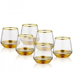 Coffret de 6 verres hauts - LINEA ORO