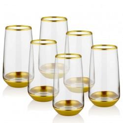 Coffret de 6 verres hauts - CURVE ORO
