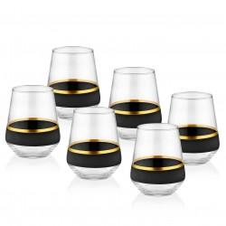 Coffret de 6 verres bas - CURVE ORO