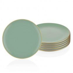 Set de 6 assiettes 26cm - MUST - Vert pastel