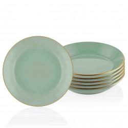 Set de 6 assiettes 20cm - MUST - Vert pastel