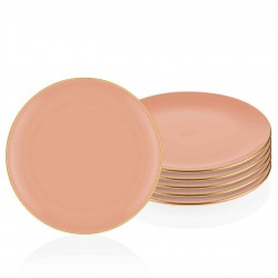 Set de 6 assiettes 26cm - MUST - Pastel Corail