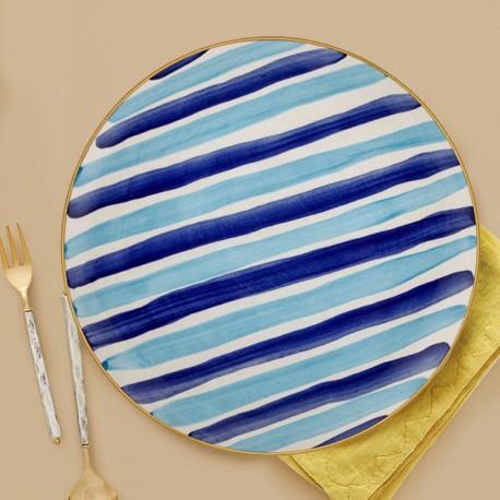 Assiette de service 30cm - ARCORIS - Nuances de bleu