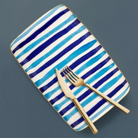 Assiette de service rectangulaire - ARCORIS - Nuances de bleu