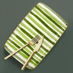 Assiette de service rectangulaire - ARCORIS - Nuances de vert