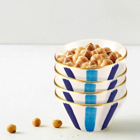 Set de 6 assiettes 26cm - ARCORIS - Nuances de bleu