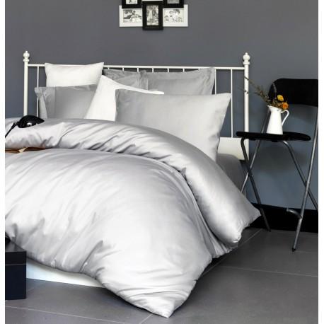 Parure de lit satin de coton GREGIO - 2 places - 220x240cm