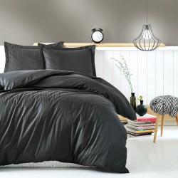 Parure de lit satin de coton STRIPY - 2 places - 240x260cm