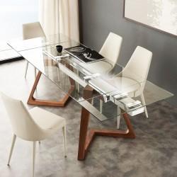 Table à manger EXTENSO - 160-240cm - Noyer