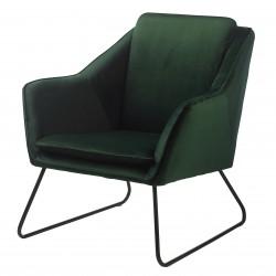 Fauteuil SISTO - Green velvet & piano Black