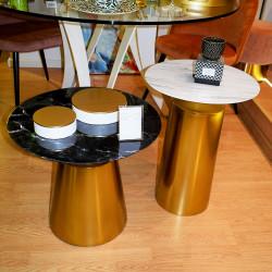 Duo de tables ICONO - Marbré & Or