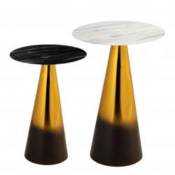 Duo de tables GRADIENT - Marbré & Or