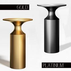 Table d'appoint VALTER - Platinum ou Gold