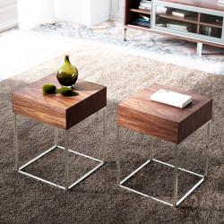 Table de chevet ou d'appoint ROMA - Noyer