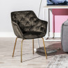 Fauteuil MOSHI Velvet & Gold - Taupe