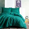 Parure de lit satin de coton STRIPY Emerald - 2 places - 240x260cm