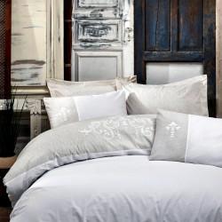 Parure de lit en Coton renforcé brodé REGINA - 2 places - 240 x 260cm