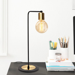Lampe à poser ROBY - Black & Gold