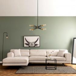 Canapé d'angle LUXEN - Beige - Angle à gauche