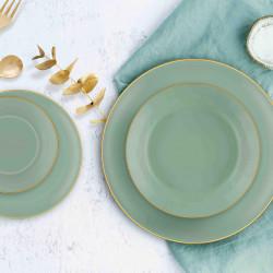 Service de table 24 pièces - MUST - Vert Pastel & Or