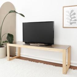Meuble télé ou Table basse rectangulaire - PURIST chêne NATUREL