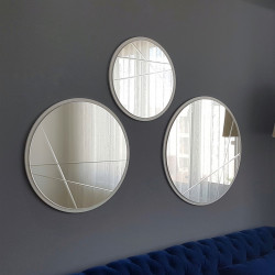 Ensemble de TROIS miroirs DIAGO ronds