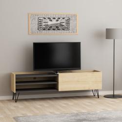 Meuble télé ELIOS - Chêne & Anthracite