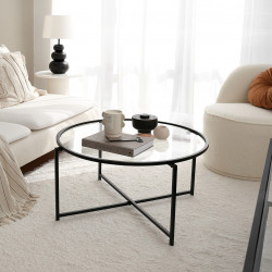 Table basse rectangulaire - GIULIA Black