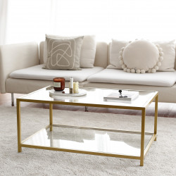 Table basse rectangulaire - GIULIA Gold