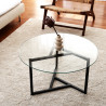 Table basse ronde - NEO Black