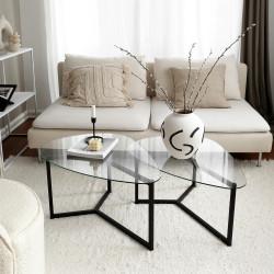 Duo de tables organiques - NEO Black