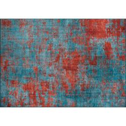 Tapis MANCHA - Cyan & Rouille - 230 x 150 cm