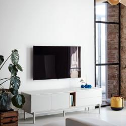Meuble télé TADJ - Pearl Grey & Oak Edition
