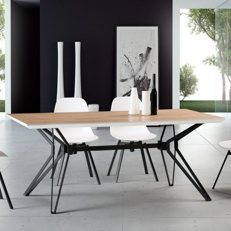TABLE A MANGER STATE RONDE PIETEMENT NOIR