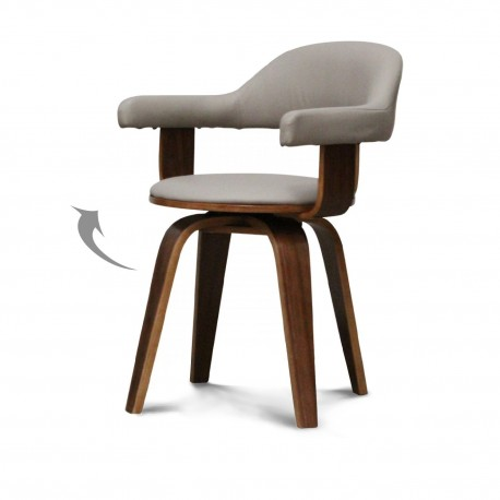 Chaise SWEDEN Walnut / Taupe