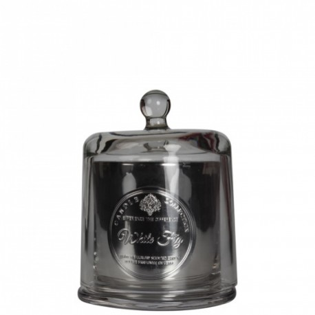 BOUGIE ARTISANALE Cloche verre soufflé - White Fig 240g