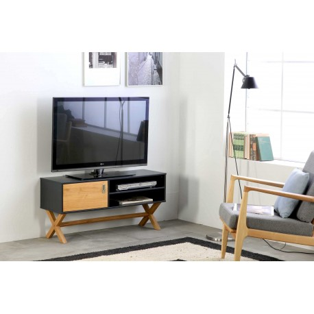 Meuble TV LIDIE Anthracite