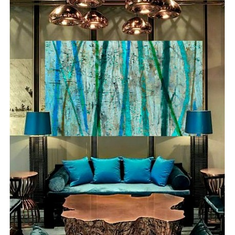 """Toile """"BLUE LAKE """" by KUNST"""