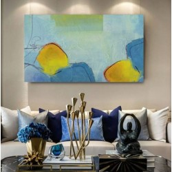 """Toile """"BLUE LAKE"""" xxL by KUNST"""