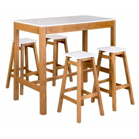 Ensemble table et 4 tabourets RENZO