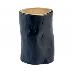 Table d'appoint / Tabouret WOODY - Black