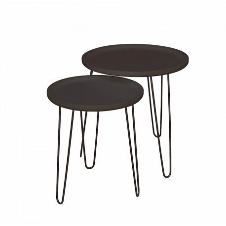 Duo de tables LIVE Black