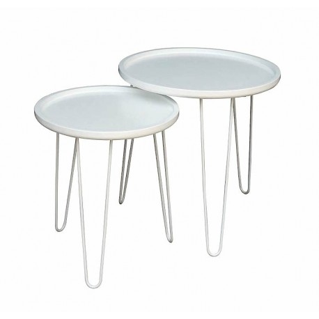 Duo de tables LIVE White