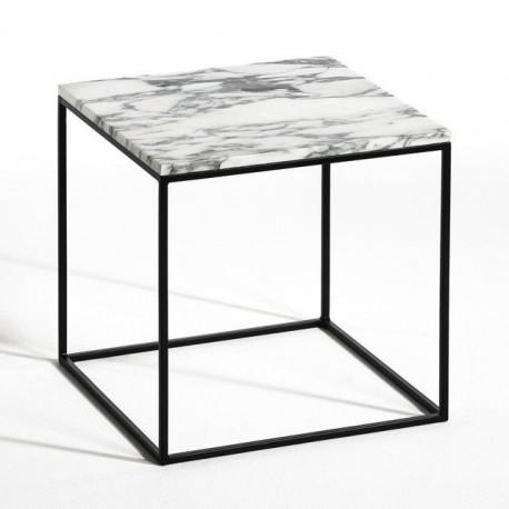 Table ou Chevet en Marbre blanc Carrare SQUIZZ