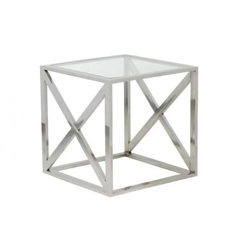 Table KINE carrée en Nickel