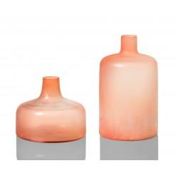 Duo de Vases COPA en verre soufflé Pastel Blush