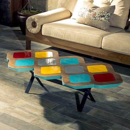 Table Basse RIO - Noyer & Colors