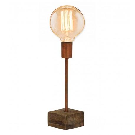 Lampe à poser ROMI - Cuivre & Teck massif